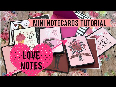 ❤️ Little Love Notes 💌 Mini Notecards Tutorial ❤️