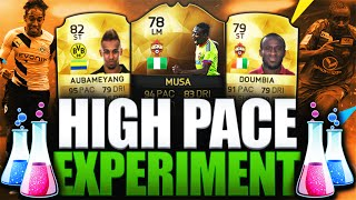 HIGH PACE EXPERIMENT!!! IF MUSA IS BROKEN!!! FIFA 16 ULTIMATE TEAM