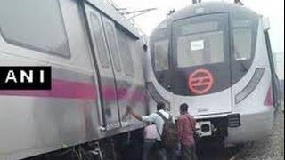 Magenta line पर Trial के दौरान आमने सामने से टकराई Delhi Metro की Train