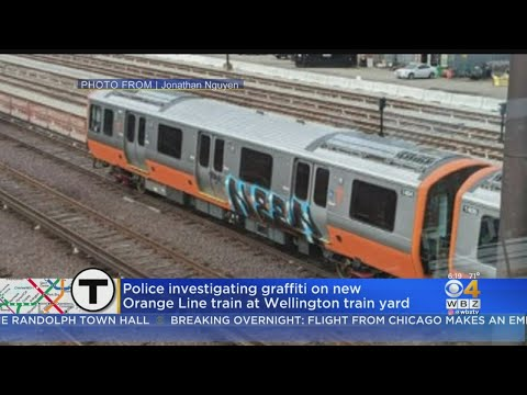 Police Investigating Graffiti On New Orange Line Train At Wellington Train Yard
