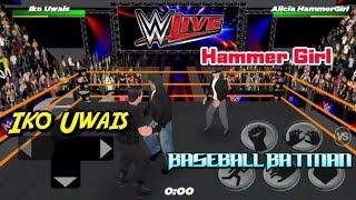 WR3D 2K18 Iko Uwais VS Hammer Girl w/ Baseball Batman