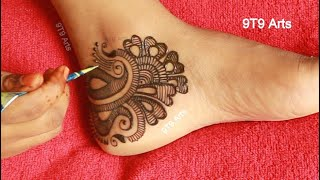 Wedding 2020 Special Dulhan Mehndi Design||Easy Arabic Leg Mehndi Design||Bridal Foot Mehndi Designs