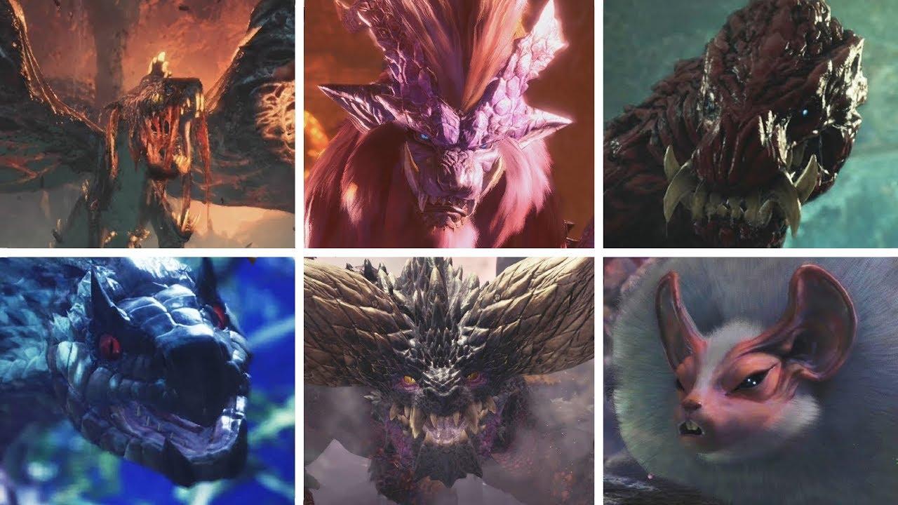 Monster Hunter World All Monsters All Bosses Youtube