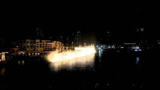 Dubai Fountain - Dhoom Taana - Shahrukh Khan and Arjun R (1)