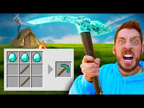 Minecraft Survival FORTS Only Using Crafting Guide!