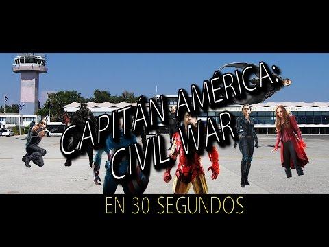 CAPITÁN AMÉRICA: CIVIL WAR EN 30 SEGUNDOS