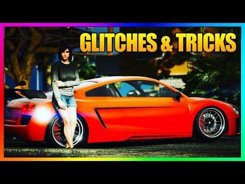 GTA 5 Online - SOLO GLITCHES & TRICKS! (Secret Hotel Wallbreach, Clothing Glitch, Launch Glitch)