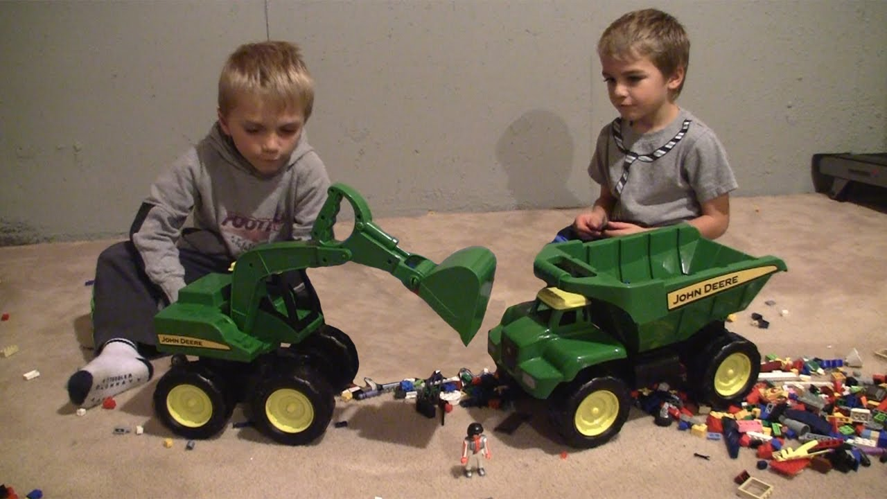 John Deere Excavator Kids Toys Hd Youtube