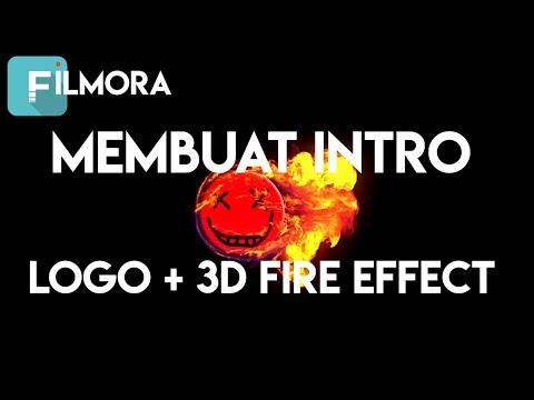 Cara Membuat Intro Logo Unik 3D Fire Circle Di Filmora