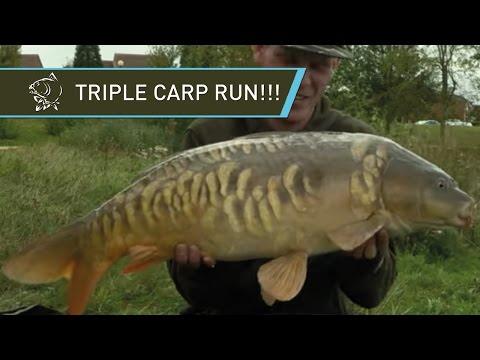 TRIPLE CARP RUN!!! Urban Carp Fishing For Charity - Alan Blair In Milton Keynes