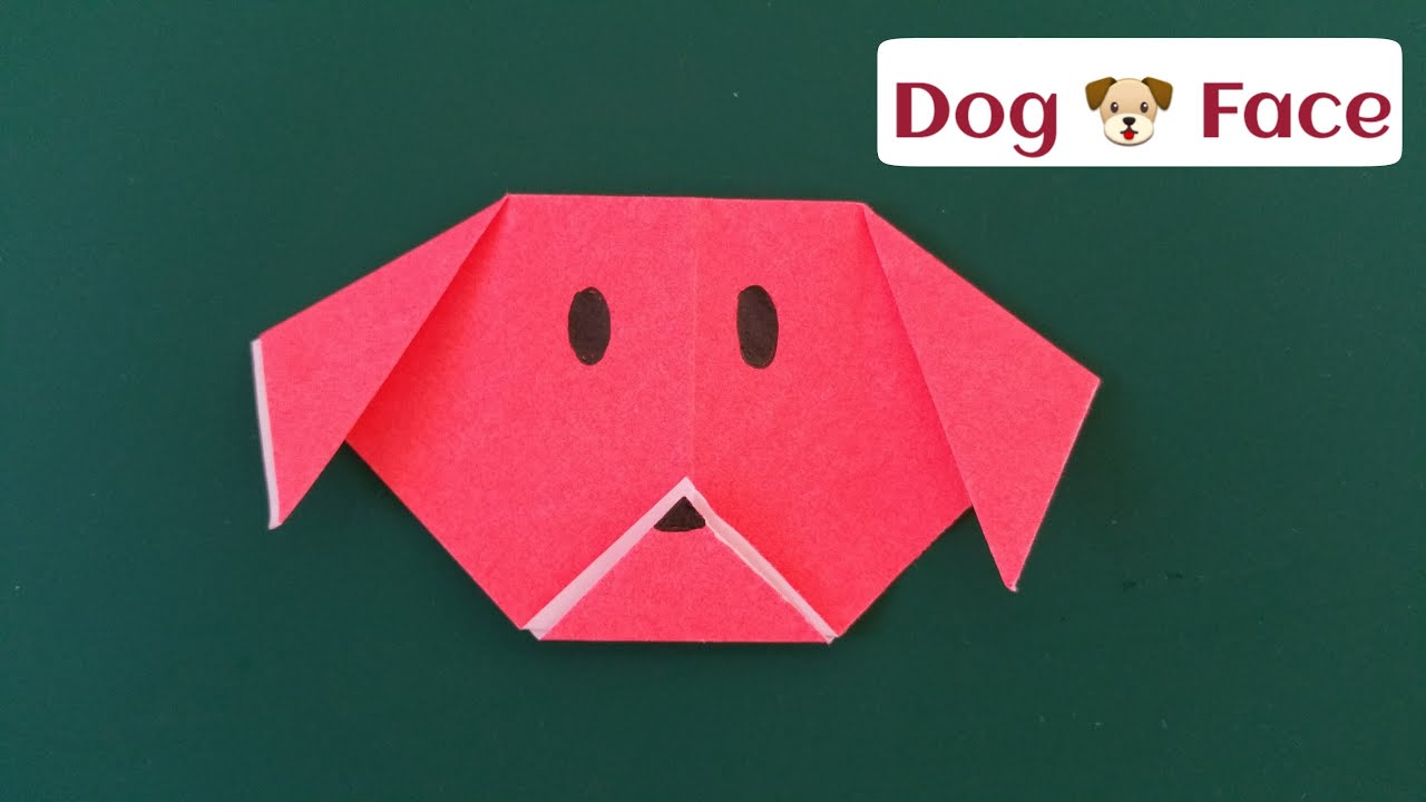 Dog(face) | Origami instructions for kids, Easy origami animals ... | 720x1280