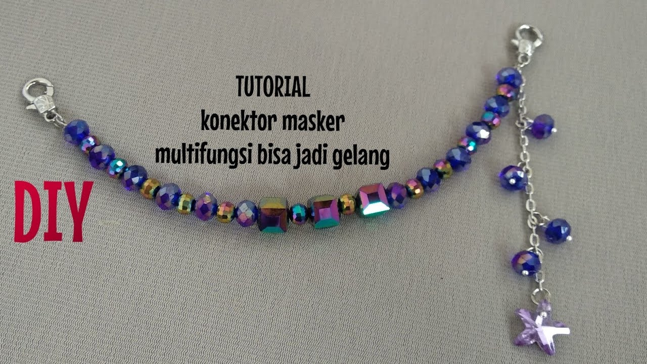 CARA MEMBUAT KONEKTOR MASKER KRISTAL BINTANG/ easy craft/mask connector tutorial/ jewelry making