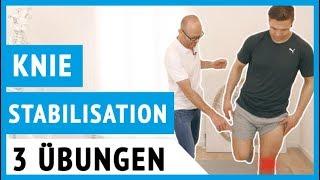 Haben Sie Knie-Probleme? | So stabilisieren Sie Ihr Kniegelenk ! (3 Übungen)