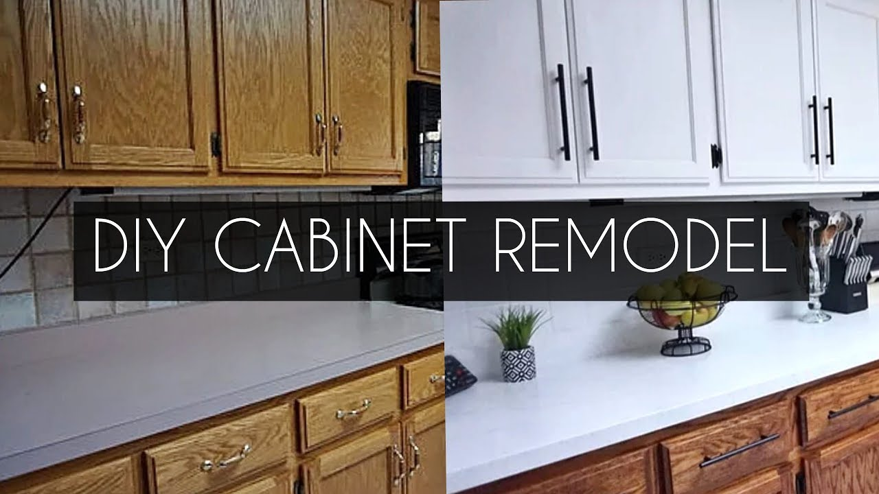 Diy How To Paint Cabinets Without Sanding Youtube