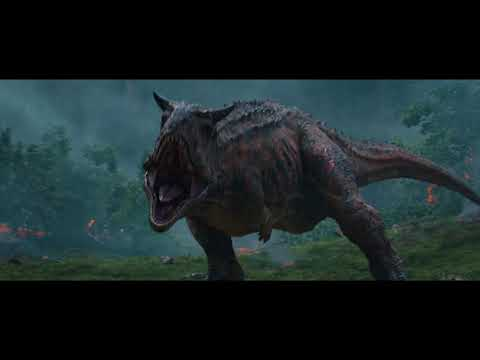 "Jurassic World: Fallen Kingdom (2018) Clip ""The Carnotaurus Stalks the Team at the Gyrosphere"""