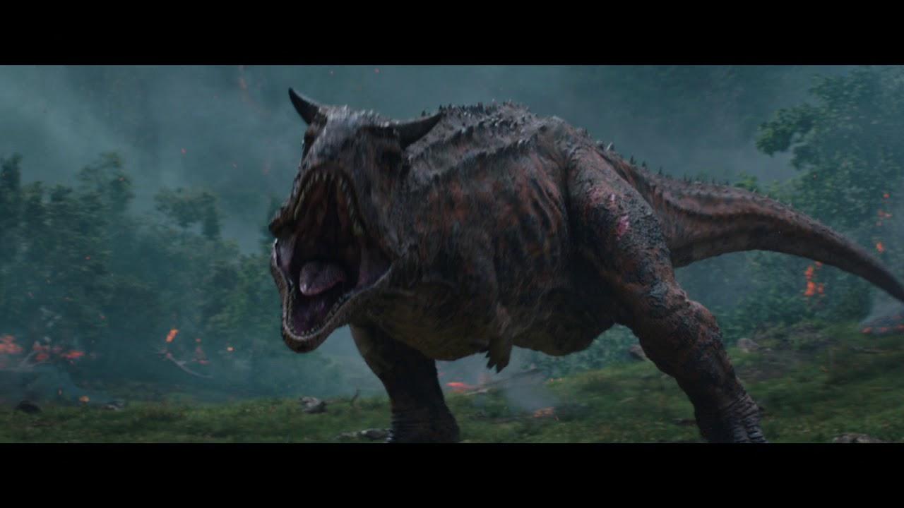 Jurassic World Fallen Kingdom 2018 Clip The Carnotaurus Stalks The Team At The Gyrosphere Youtube