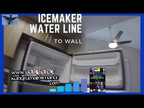 Hooking Up Icemaker Water Supply Line From Wall To Refrigerator