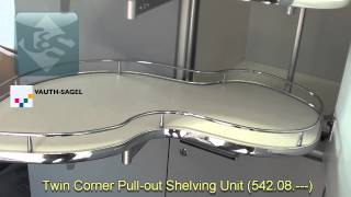 Vauth-sagel Twin Corner Pull-out Shelving Unit (542.08.---)