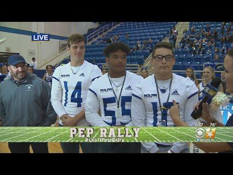 CBS 11 Pep Rally: Nolan Catholic High School Football Team