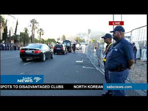 President Cyril Ramaphosa's motorcade arrives for #SONA2018