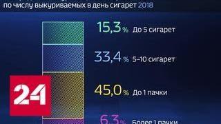 Смотреть видео Россия в цифрах. Где много курящего населения? - Россия 24 онлайн