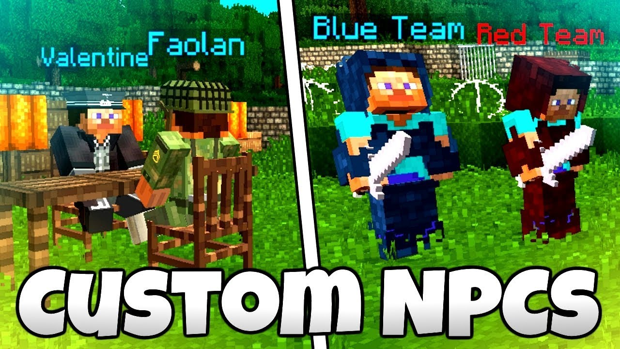 FACTIONS, SCRIPTS and DIALOGUES! - Minecraft Custom NPCs Mod Tutorial