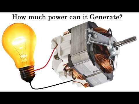 Universal Motor As 100w Generator From Mixer Diy
