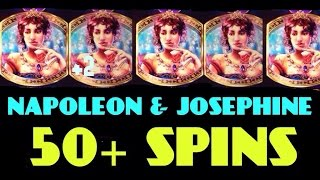 NAPOLEON & JOSEPHINE slot machine 50 SPINS bonus and MEGA BIG WIN