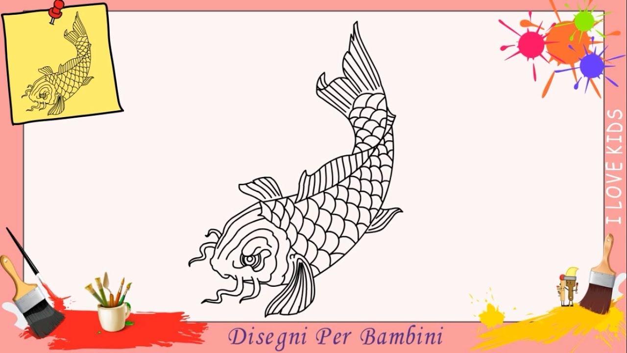 Come Disegnare Un Pesce Facile Passo Per Passo Per Bambini Disegno
