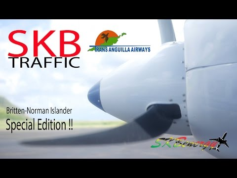 Special Edition !! Trans Anguilla Airways Britten-Norman Islander in action @ St. Kitts Airport