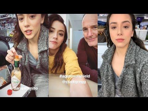 Chloe Bennet  Snapchat Story  28 March 2018 w Clark Gregg