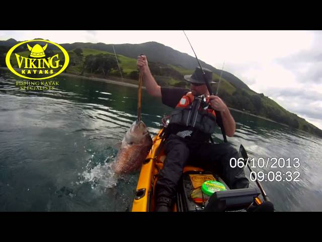 First 20lb Snapper from Viking Kayak Profish 440   Shane Walton
