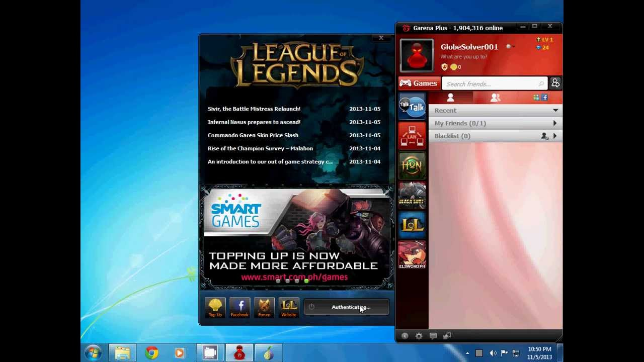 how to play lol in garena