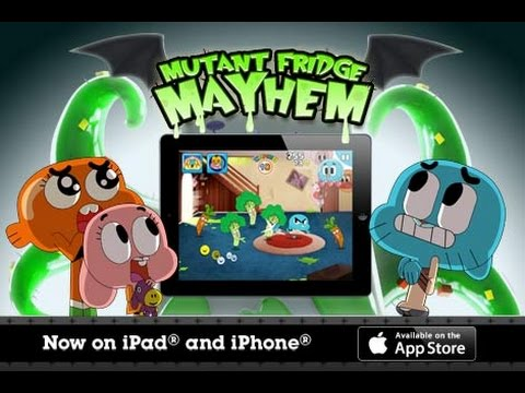 Mutant Fridge Mayhem Gumball - Cartoon Network GamePlay Trailer