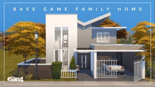 Base Game Family Home   No CC   Sims 4 stop motion build