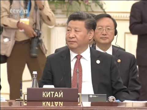 习近平出席上海合作组织成员国元首理事会第十六次会议并发表讲话高清版