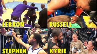 Stephen Curry, LeBron James, Kyrie & Westbrook GIVE BACK to FANS! 💖
