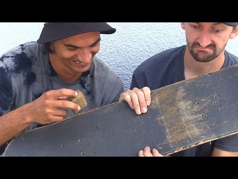 HOW TO CLEAN YOUR GRIPTAPE THE EASIEST WAY TUTORIAL