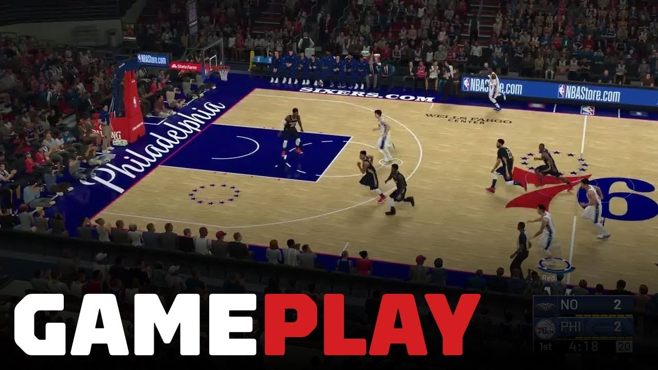 NBA 2K19  Pelicans vs. 76ers Gameplay (FULL QUARTER OF XBOX ONE X IN ... 48f52e754