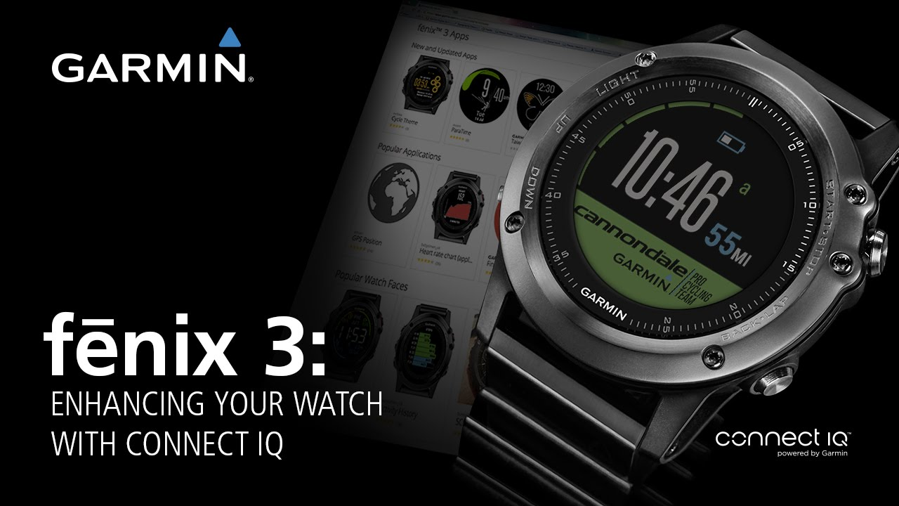 fēnix® 3: Enhancing Your Watch With Connect IQ