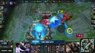 Ending of CLG vs Jin Air Green Wings - Darshan xPeke Backdoor - Game 1 - IEM San Jose 2015
