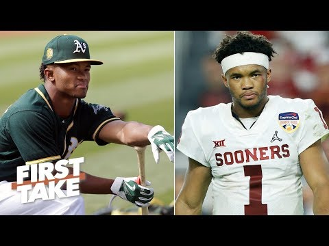 Kyler Murray can't play in the NFL and the MLB at the same time - Louis Riddick | First Take