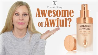 Charlotte Tilbury Airbrush Flawless Foundation Review | 3 Wear Tests | Mature Dry Skin