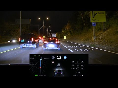 Tesla Model X v8.0 autopilot long test