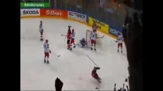 Канада 1:0 Россия -  Коди Икин (первый гол, первый период) 17.05.2015