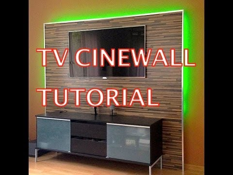 cinewall ledstrip doovi. Black Bedroom Furniture Sets. Home Design Ideas
