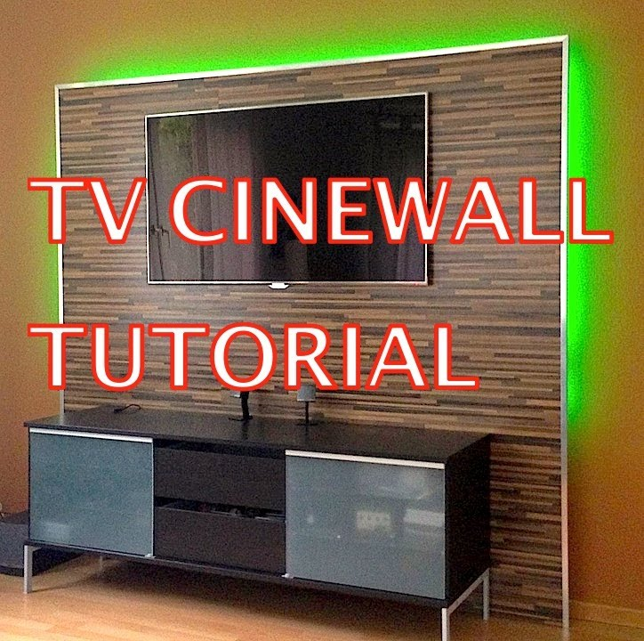 Tv Wand Selber Bauen Ikea : LED TV Wand Tutorial (Cinewall)  YouTube