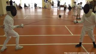 6-е октября, 2016. Дима на соревнованиях по фехтованию на шпагах.