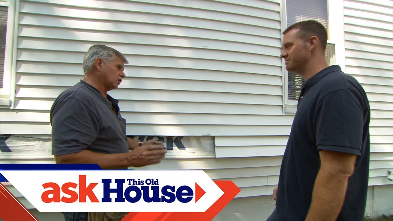 How To Replace Damaged Vinyl Siding Youtube