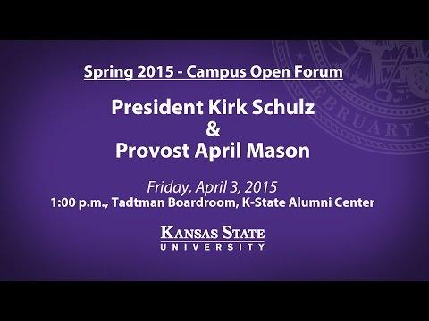 Spring 2015 President/Provost Open Forum | K-State Manhattan